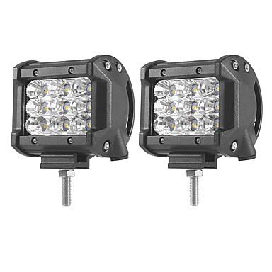 2pcs Carro Lâmpadas 27 W SMD 3030 5400 lm LED Luz de Trabalho Para