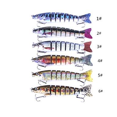 1 Pcs Esca Esche Rigide Luccio Plastica Acciaio Al Carbonio Impermeabile Luce E Comodo Facile Da Usare Affondamento Pesca Di Mare Pesca A Mulinello Spinning - Pesca Di Carpe - Pesca Con Esca #07047313