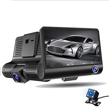 billige Bil-DVR-ziqiao a32 fhd 1080p bil dvr 4 tommers dash cam 3 kamera linse nattesyn bil dvr