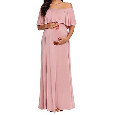 Γυναικεία Βασικό Θήκη Φόρεμα - Μονόχρωμο Μακρύ fd75d2a102b