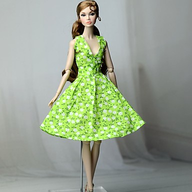 a02123dacc06 Dresses Dress For Barbiedoll Apple Green Cotton Cloth / Non-woven Dress For  Girl's Doll