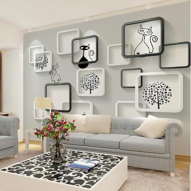 tapeta / Mural Platno Zidnih obloga - Ljepila potrebna Copaci / Frunze / Art Deco / 3D