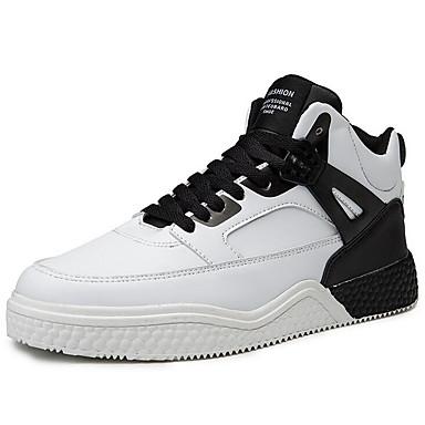 رجالي أحذية الراحة مجهرية للربيع والصيف رياضي أحذية رياضية كرة السلة أبيض / أسود / أسود / أحمر