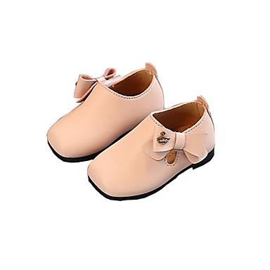 34eef1dd0cc Chica Zapatos Cuero Sintético Primavera   Otoño Primeros Pasos   Zapatos  para niña florista Zapatos de taco bajo y Slip-On para Bebé Beige   Gris    Rosa