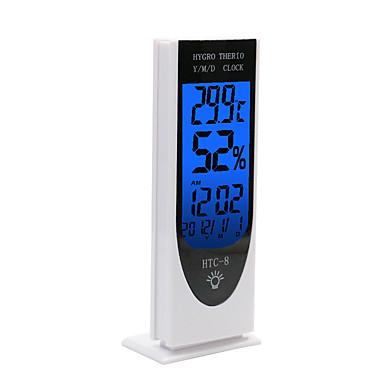 voordelige Test-, meet- & inspectieapparatuur-WINYS HTC-8 Wekker Elektronische thermometer Desktopstijl, LCD-achtergrondverlichting