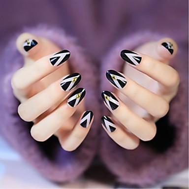 24 pcs Najbolja kvaliteta Eko-friendly materijal Geometrijski strukovi Za Prst noktiju Kreativan nail art Manikura Pedikura Dnevno pomodan / Moda
