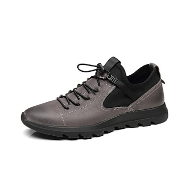 Men's Comfort Shoes Nappa Leather Winter Sneakers Black / Gray