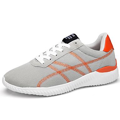 Ανδρικά Παπούτσια άνεσης Δίχτυ Ανοιξη καλοκαίρι Αθλητικό Αθλητικά Παπούτσια Περπάτημα Αναπνέει Μαύρο / Γκρίζο