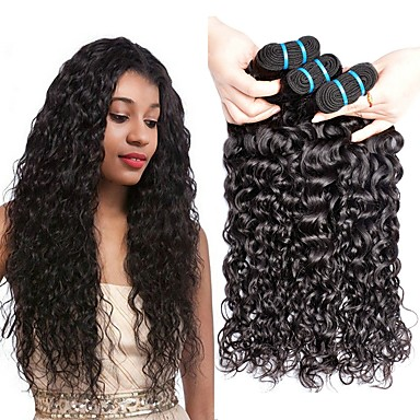 3 paketa Malezijska kosa Water Wave Ljudska kosa Netretirana  ljudske kose Wig Accessories Headpiece Ljudske kose plete 8-28 inch Prirodna boja Isprepliće ljudske kose Dizajni Najbolja kvaliteta Gust