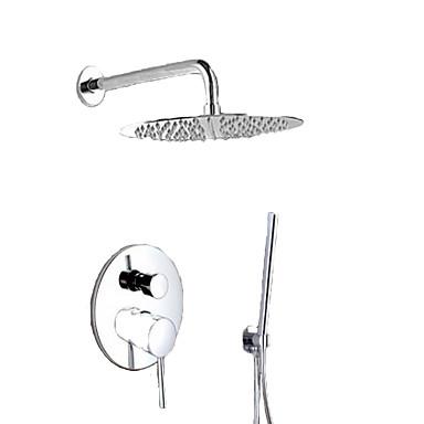 Rubinetto Doccia - Moderno Cromo Montaggio Su Parete Valvola In Ottone Bath Shower Mixer Taps - Ottone - Una Manopola Tre Fori #03839390 Numerosi In Varietà