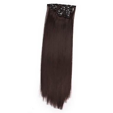 povoljno Perike i ekstenzije-Isječak U / S Kose za kosu Sintentička kosa Kose za kosu Ugradnja umetaka Ravan kroj Dug Dnevno / Zlatna / Plavuša / Priroda Crna