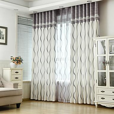 economico Per le tue finestre-Fatto su misura Risparmio energetico tende tende Due pannelli 2*(W107cm×L213cm) / Camera da letto