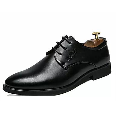 Muškarci Udobne cipele PU Proljeće Posao Oksfordice Nosite dokaz Crn