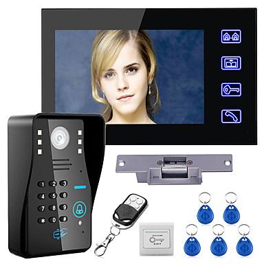 abordables Sécurité & Sûreté-interphone vidéo filaire 7 pouces mains libres un à un 960 * 480 kit de système d'interphone verrouillage gâche électrique télécommande sans fil déverrouiller