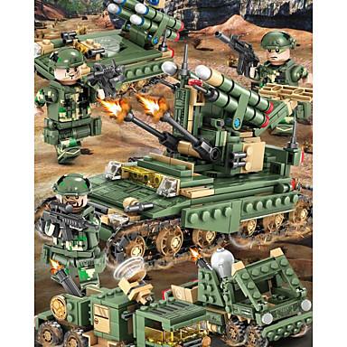 Kocke za slaganje Građevinski set igračke Poučna igračka 200-400 pcs Vojni Tenk kompatibilan Legoing simuliranje Vojno vozilo Tenk Sve Dječaci Djevojčice Igračke za kućne ljubimce Poklon