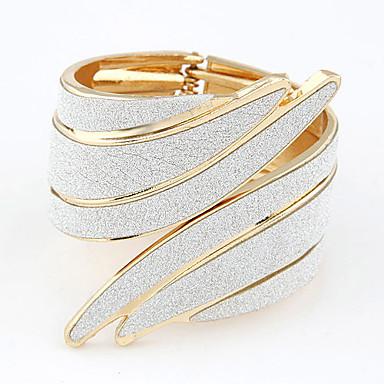 baratos Bangle-Bracelete Pulseira larga Oco Punhos Importante senhoras Vintage Festa Aberto Liga Pulseira de jóias Branco Para Presentes de Natal