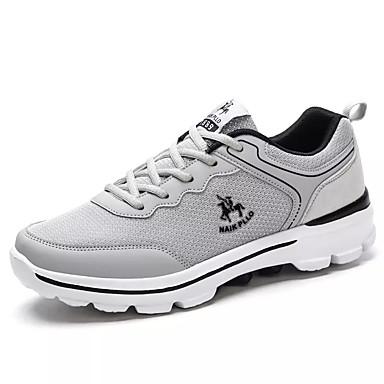 Muškarci Udobne cipele PU Jesen Ležerne prilike Atletičarke tenisice Hodanje Prozračnost Crn / Dark Blue / Svjetlo siva