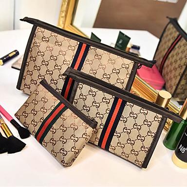 Žene Patent-zatvarač Platno Bag Setovi Kompleti za vrećice 3 kom Crn / Žutomrk