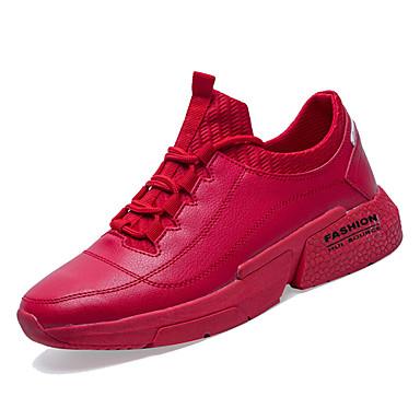 Pánské Komfortní boty PU Jaro & podzim sportovní Atletické boty Basketbal Neklouzavá Bílá / Černá / Červená