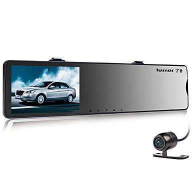 billige Bil-DVR-Vasens 168 720p / 960p / 1080p HD / Dual Lens Bil DVR 170 grader Bred vinkel CMOS 4.3 tommers LCD Dash Cam med G-Sensor / Bevegelsessensor / Loop-opptak Nei Bilopptaker