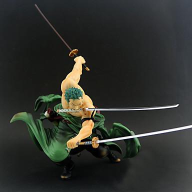 billige Anime actionfigurer-Anime Action Figurer Inspirert av One Piece Roronoa Zoro PVC 20 cm CM Modell Leker Dukke