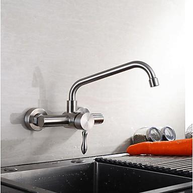 Kitchen faucet - Single Handle Two Holes Standard Spout Contemporary  Kitchen Taps