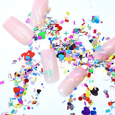 Gioielli per unghie Cristallo / Stile Mini / Comodo Serie totem Serie gioielli Serie romantica manicure Manicure pedicure Foglio di alluminio Di moda / Romantico Natale / Occasioni speciali