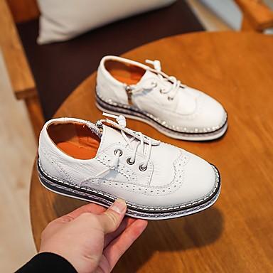 baratos Sapatos de Criança-Para Meninos Pele Oxfords Criança (9m-4ys) / Little Kids (4-7 anos) / Big Kids (7 anos +) Conforto Preto / Bege Outono