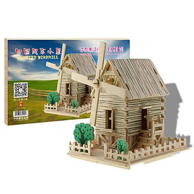 voordelige 3D-puzzels-3D-puzzels Modelbouwsets Houten modellen Beroemd gebouw Huis DHZ Puinen Klassiek Unisex Jongens Meisjes Speeltjes Geschenk
