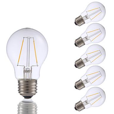 6pcs gmy a17 led edison ampoule 2w led ampoule à incandescence équivalente 21w avec e26 base 2700k pour chambre salon maison décoratif