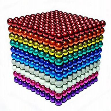 povoljno Igračke i igre-1000 pcs 3mm Magnetne igračke Magnetske kuglice Kocke za slaganje Snažni magneti Magnetska igračka Magnetska igračka Stres i anksioznost reljef Uredske stolne igračke Uradi sam Dječji / Odrasli