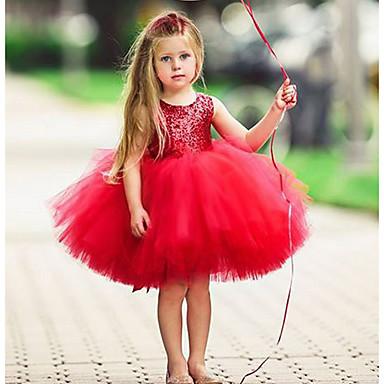 povoljno Beba & Djeca-Djeca Dijete koje je tek prohodalo Djevojčice Aktivan Osnovni Jednobojni Bez rukávů Haljina Blushing Pink