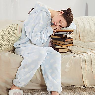 Adults' Hoodie Kigurumi Pajamas Deer Onesie Pajamas Coral Velve Blue / Pink Cosplay For Men and Women Animal Sleepwear Cartoon Festival / Holiday Costumes
