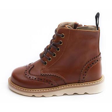 baratos Sapatos de Criança-Para Meninos Pele Napa Botas Criança (9m-4ys) / Little Kids (4-7 anos) Conforto / Coturnos Marron Outono & inverno / Botas Curtas / Ankle