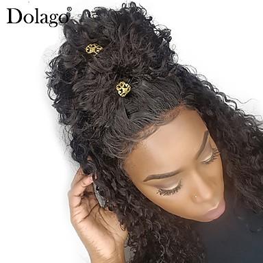 Dolago Cabello Brasileño 360 frontal Ondulado Parte gratuito Malla francesa  Pelo natural virgen   Pelo Natural Mujer con pelo de bebe   Para mujeres de  ... 7810802b8243