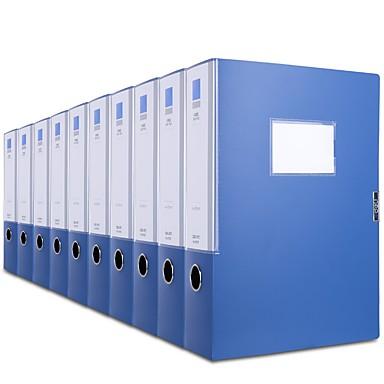 10 Pcs Deli 27037 Casella Di File A4 Pp Etichetta Personalizzata A Prova Di Umidità #07131882 Per Produrre Un Effetto Verso Una Visione Chiara
