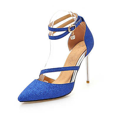 b6197e7f37 Women's Synthetics Spring & Fall Business / Minimalism Heels Stiletto Heel  Pointed Toe Sequin Silver / Blue / Pink / Wedding / Party & Evening