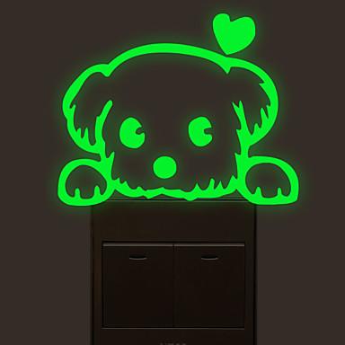 Samolepky na spínač světla - Světelné samolepky na zeď / Zvířecí nálepky na zeď Zvířata Obývací pokoj / Ložnice / Koupelna