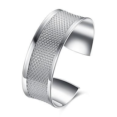 abordables Bracelet-Manchettes Bracelets Homme Classique S925 argent sterling Mode Bracelet Bijoux Argent Forme Géométrique pour Cadeau Quotidien