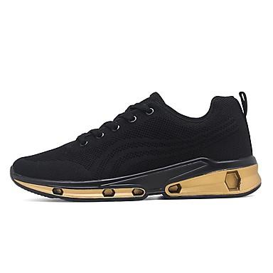 สำหรับผู้ชาย รองเท้าสบาย ๆ Tissage Volant ตก รองเท้ากีฬา สำหรับวิ่ง สีทอง / ขาว / สีดำ