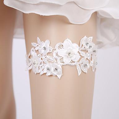 ลูกไม้ ความรัก / เกี่ยวกับเจ้าสาว Wedding Garter กับ มุก / ดอกไม้ สายรัด งานแต่งงาน / ปาร์ตี้