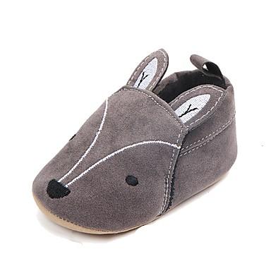 voordelige Babyschoenentjes-Jongens / Meisjes Comfortabel / Eerste schoentjes Suède Loafers & Slip-Ons Peuter (9m-4ys) Dierenprint Oranje / Grijs Herfst / Lente zomer