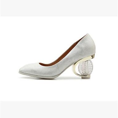 Női Fordított bőr Nyár Vintage   Alkalmi Magassarkúak Heterotípusos sarok  Erősített lábujj Fehér   Fekete   Piros db357128d9