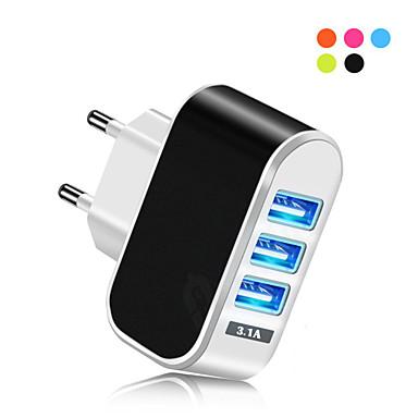 Caricabatteria USB -- 3 Stazione di caricatore dello scrittorio Nuovo design Presa EU Adattatore di carica