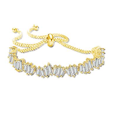 abordables Bracelet-Chaînes Bracelets Femme Zircon cubique Elégant Artistique Bracelet Bijoux Dorée Argent Or Rose pour Mariage Fiançailles Rendez-vous Plein Air Soirée