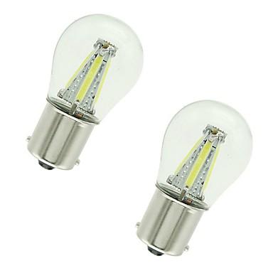 preiswerte Bremslichter-2pcs 1156 / 1157 Auto Leuchtbirnen 4 W COB 300 lm 4 LED Blinkleuchte / Bremslichter / Rückfahrleuchten (Backup) Für Universal Alle Jahre