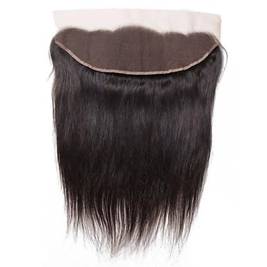 baratos Extensões de Cabelo Natural-1 pacote Cabelo Brasileiro Liso Cabelo Virgem Acessórios Para Peruca Trama do cabelo com Encerramento 8-20 polegada Côr Natural Tramas de cabelo humano Renda Clássico Nova chegada Extensões de cabelo