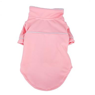 Prodotti Per Cani Pigiami Abbigliamento Per Cani Tinta Unita Rosa Nero Tessuto Felpato Costume Per Corgi Beagle Bulldog Primavera Estate Per Maschio Per Femmina Casual #07182409