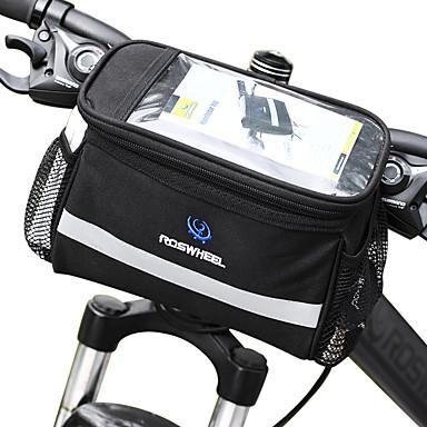 billige Sykkelvesker-ROSWHEEL 4.5 L Vesker til sykkelstyre Fukt-sikker Anvendelig Støtsikker Sykkelveske PVC 600D polyester Sykkelveske Sykkelveske Samsung Galaxy S6 / iPhone 4/4S / LG G3 Sykling / Sykkel
