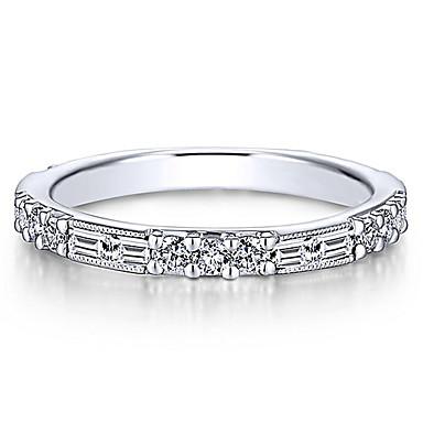 voordelige Dames Sieraden-Dames Ring Staartring Eternity Ring Kubieke Zirkonia 1pc Wit Goud Rose Koper Roos verguld Geometrische vorm Europees modieus Feest Lahja Sieraden Klassiek Cool